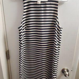 H&M Black and White Striped Sheath Dress